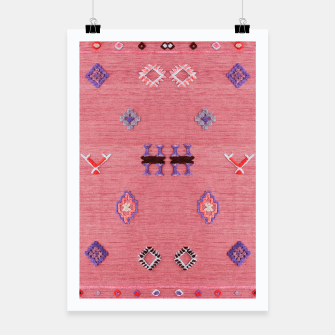 Thumbnail image of Pink Boho Oriental Traditional Moroccan Style Poster, Live Heroes