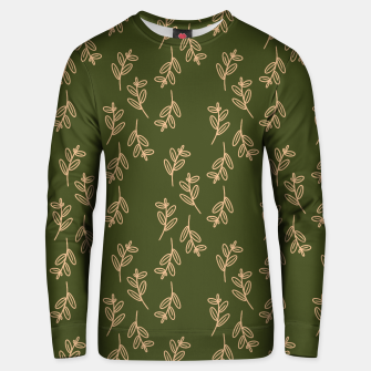 Thumbnail image of Feeling of lightness Pattern II - Pine needle green Unisex sweater, Live Heroes
