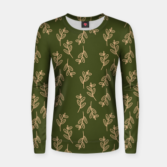 Thumbnail image of Feeling of lightness Pattern II - Pine needle green Women sweater, Live Heroes