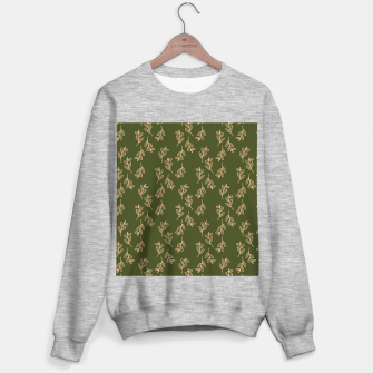 Thumbnail image of Feeling of lightness Pattern II - Pine needle green Sweater regular, Live Heroes
