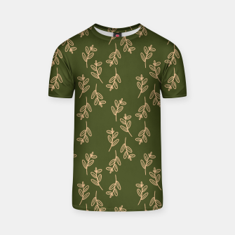 Thumbnail image of Feeling of lightness Pattern II - Pine needle green T-shirt, Live Heroes