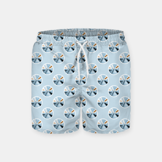Imagen en miniatura de Light Blue Polka Dot Fractal Pattern Swim Shorts, Live Heroes