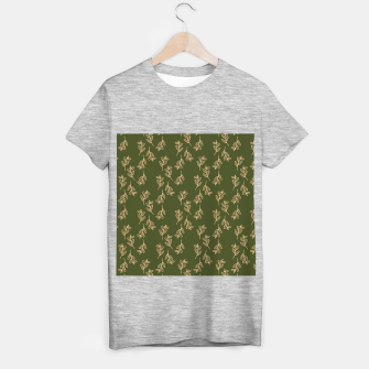 Thumbnail image of Feeling of lightness Pattern II - Pine needle green T-shirt regular, Live Heroes
