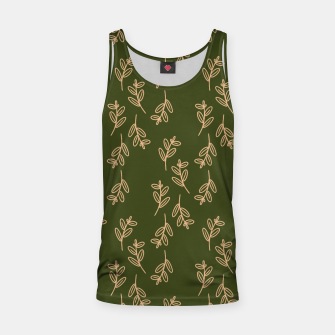 Thumbnail image of Feeling of lightness Pattern II - Pine needle green Tank Top, Live Heroes