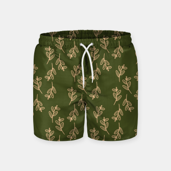 Thumbnail image of Feeling of lightness Pattern II - Pine needle green Swim Shorts, Live Heroes