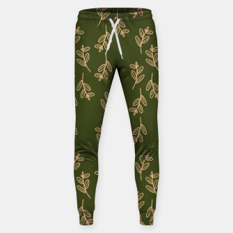 Thumbnail image of Feeling of lightness Pattern II - Pine needle green Sweatpants, Live Heroes