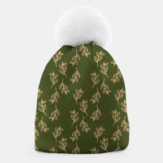 Thumbnail image of Feeling of lightness Pattern II - Pine needle green Beanie, Live Heroes