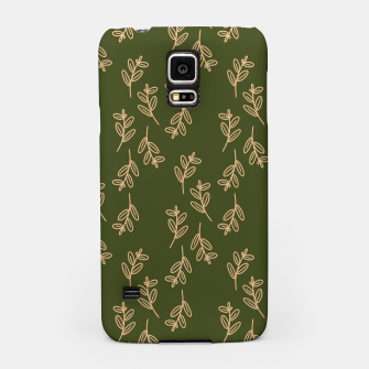 Thumbnail image of Feeling of lightness Pattern II - Pine needle green Samsung Case, Live Heroes