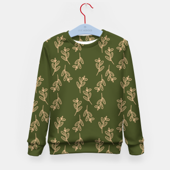 Thumbnail image of Feeling of lightness Pattern II - Pine needle green Kid's sweater, Live Heroes