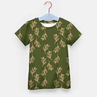 Thumbnail image of Feeling of lightness Pattern II - Pine needle green Kid's t-shirt, Live Heroes