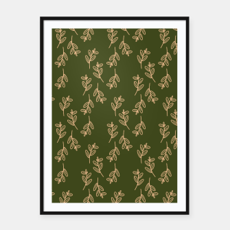 Thumbnail image of Feeling of lightness Pattern II - Pine needle green Framed poster, Live Heroes