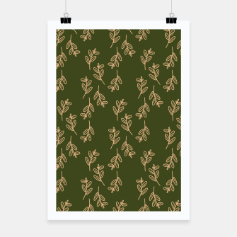 Thumbnail image of Feeling of lightness Pattern II - Pine needle green Poster, Live Heroes