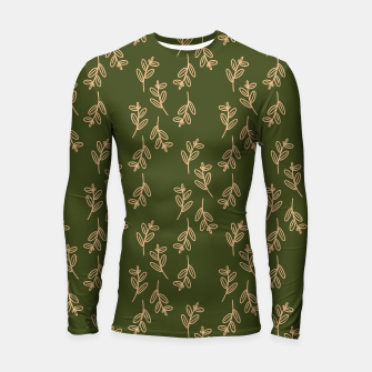 Thumbnail image of Feeling of lightness Pattern II - Pine needle green Longsleeve rashguard , Live Heroes