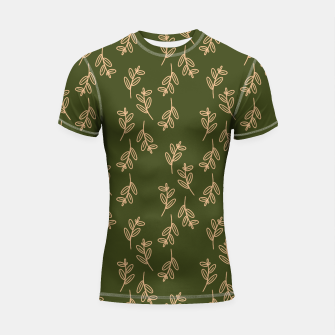 Thumbnail image of Feeling of lightness Pattern II - Pine needle green Shortsleeve rashguard, Live Heroes