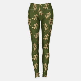 Thumbnail image of Feeling of lightness Pattern II - Pine needle green Leggings, Live Heroes