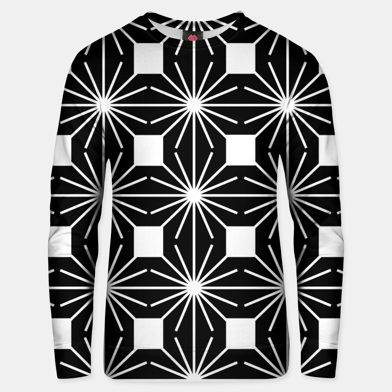 Image of Abstract geometric pattern - black and white. Unisex sweater - Live Heroes