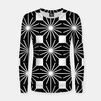 Thumbnail image of Abstract geometric pattern - black and white. Women sweater, Live Heroes