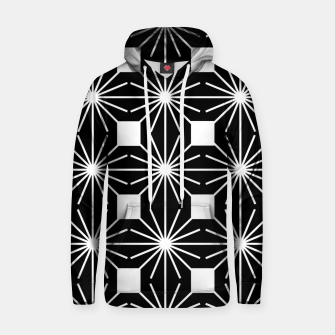 Abstract geometric pattern - black and white. Hoodie thumbnail image
