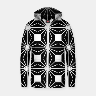 Abstract geometric pattern - black and white. Zip up hoodie thumbnail image