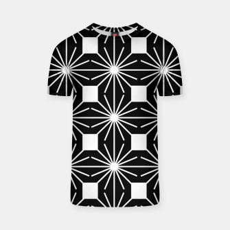Abstract geometric pattern - black and white. T-shirt thumbnail image