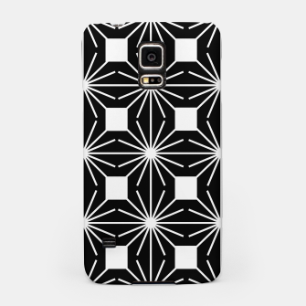 Abstract geometric pattern - black and white. Samsung Case thumbnail image