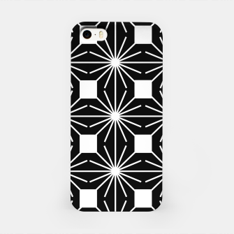Abstract geometric pattern - black and white. iPhone Case thumbnail image