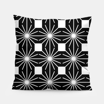 Abstract geometric pattern - black and white. Pillow thumbnail image
