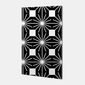 Abstract geometric pattern - black and white. Canvas thumbnail image
