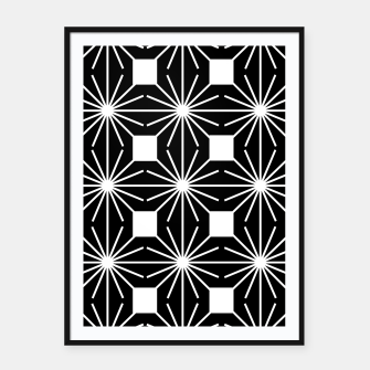Thumbnail image of Abstract geometric pattern - black and white. Framed poster, Live Heroes