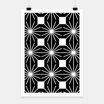 Thumbnail image of Abstract geometric pattern - black and white. Poster, Live Heroes