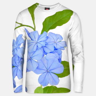 Stylized Floral Print Photo Unisex sweater obraz miniatury