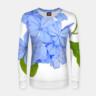 Stylized Floral Print Photo Women sweater obraz miniatury