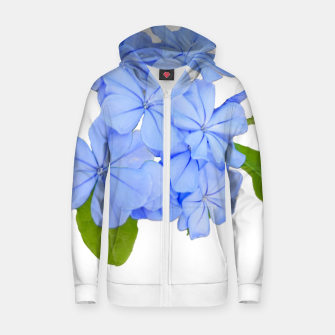 Stylized Floral Print Photo Zip up hoodie obraz miniatury