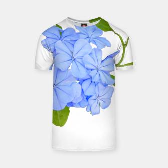 Stylized Floral Print Photo T-shirt obraz miniatury