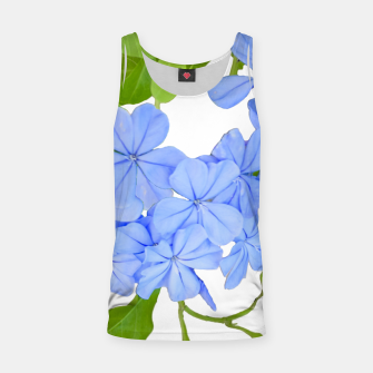 Stylized Floral Print Photo Tank Top obraz miniatury