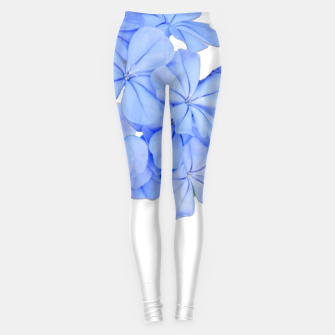 Stylized Floral Print Photo Leggings obraz miniatury