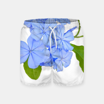 Stylized Floral Print Photo Swim Shorts obraz miniatury