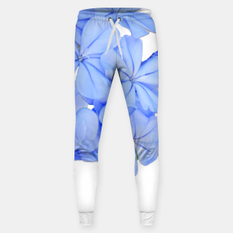 Stylized Floral Print Photo Sweatpants obraz miniatury
