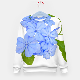 Stylized Floral Print Photo Kid's sweater obraz miniatury