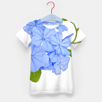 Stylized Floral Print Photo Kid's t-shirt obraz miniatury