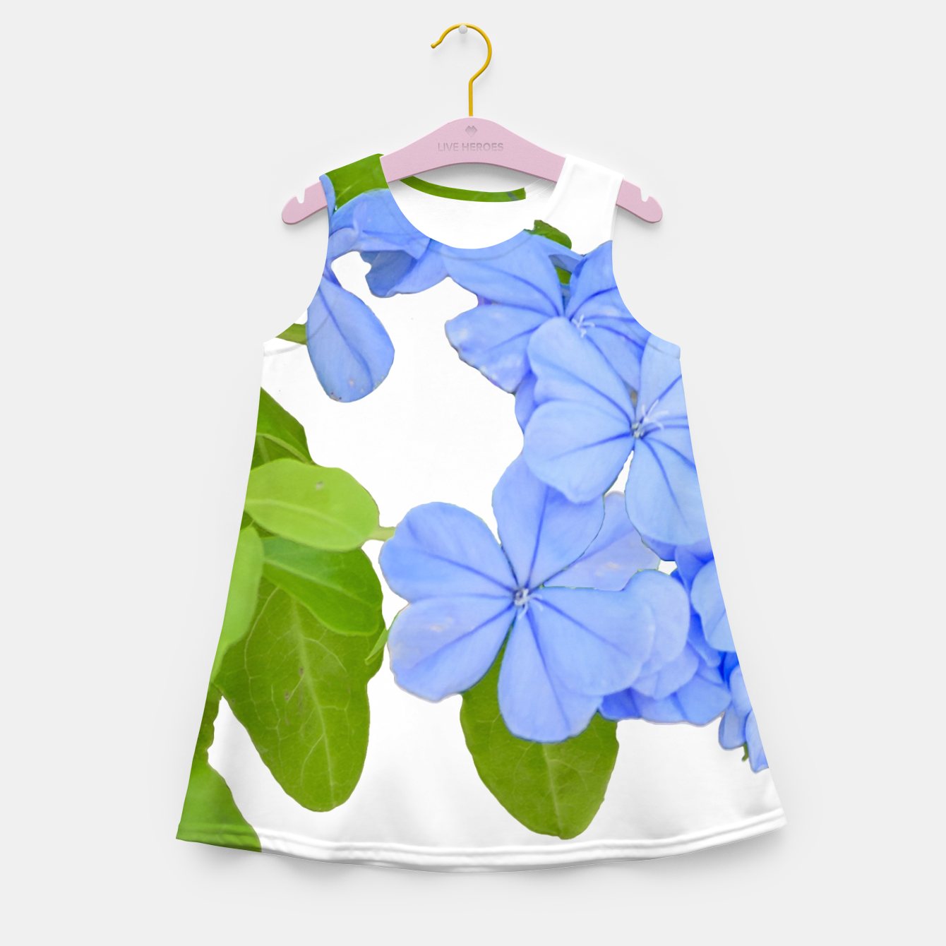 Zdjęcie Stylized Floral Print Photo Girl's summer dress - Live Heroes