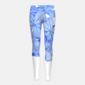 Stylized Floral Print Photo Girl's leggings obraz miniatury