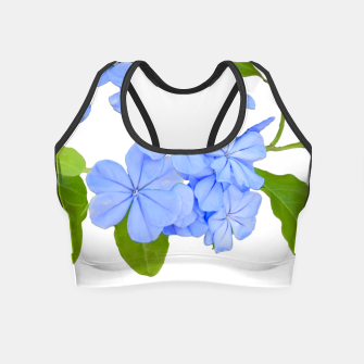 Stylized Floral Print Photo Crop Top obraz miniatury