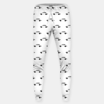 Thumbnail image of Vintage Car Motif Graphic Pattern Sweatpants, Live Heroes