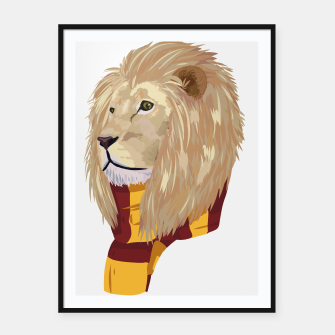 Thumbnail image of Gryffindor lion Harry Potter Plakaty w ramie , Live Heroes