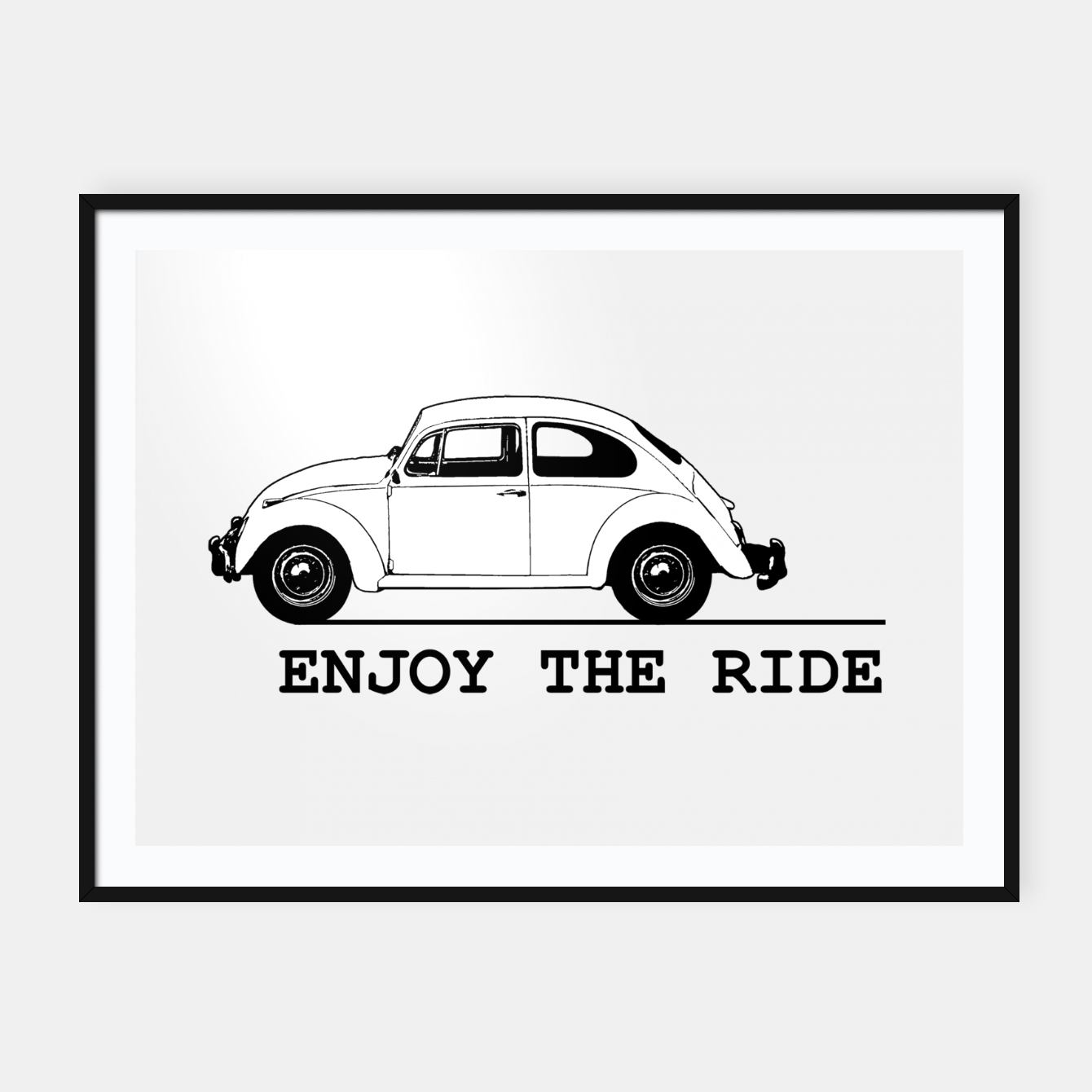 Zdjęcie Enjoy The Ride Concept Drawing Framed poster - Live Heroes
