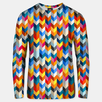 Abstract Blocks Going Down Unisex sweater obraz miniatury