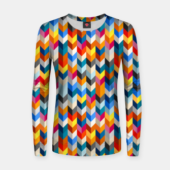 Abstract Blocks Going Down Women sweater obraz miniatury
