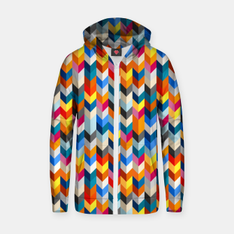 Abstract Blocks Going Down Zip up hoodie obraz miniatury