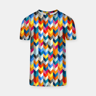Thumbnail image of Abstract Blocks Going Down T-shirt, Live Heroes